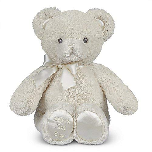 Bearington Baby's First Teddy Bear, Small Creamy White Plush Stuffed Animal, 12 inches from Bearington Collection