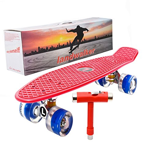 "Landwalker 22"" Light Up Skateboard with Colorful LED Light U"