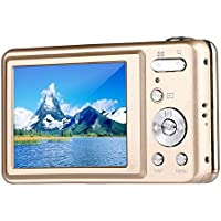 Digital Camera,Bigaint BG007 2.7 TFT 1280x720 5X Optical Zoom 15MP HD Anti-shake Smile Capture Digital Video Camera-Gold
