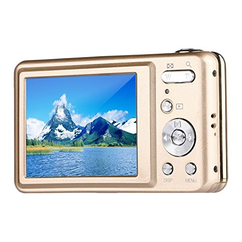 Digital Camera,Bigaint BG007 2.7' TFT 1280x720 5X Optical Zoom 15MP HD Anti-shake Smile Capture Digital Video Camera-Gold (And Shoot Point Tv)