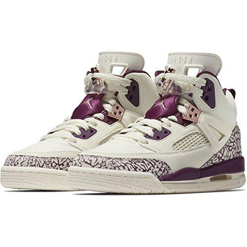 Jordan Girl's Spizike Basketball Shoes, Sail/Bordeaux-Metallic Red Bronze 6.5Y - Bronze Basketball