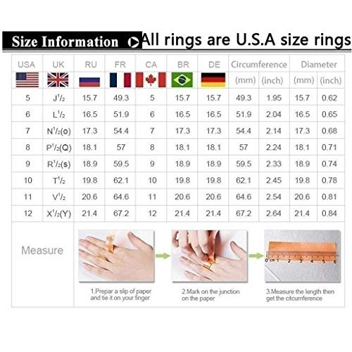 - GzxtLTX Wedding Gold Ring Fashion Anniversary Ring Ring for Women (Yellow,10)