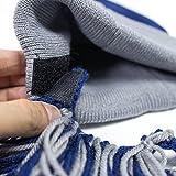Beard Head Tailgate Dallas Knit Beanie w/ Beard Hat (Blue & Grey)