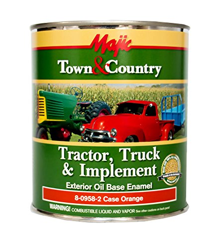 - Majic Paints 8-0958-2 Town & Country Tractor, Truck & Implement Oil Base Enamel Paint, 1-Quart, Case Orange