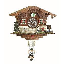 Kuckulino Black Forest Clock Swiss House with quartz movement and cuckoo chime TU 2008 SQ