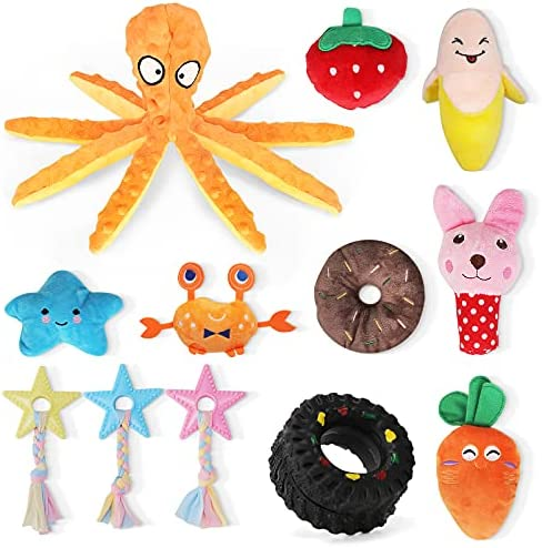 12 Pack Puppy Toys for Teething Chewing, Small...