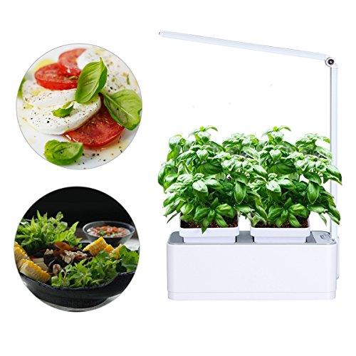 Smart Herb Garden Grower Kit, 2 Detachable 18 Pots Seeds DIY Self Watering Hydroponics for Indoor Include LED Growing Lamp