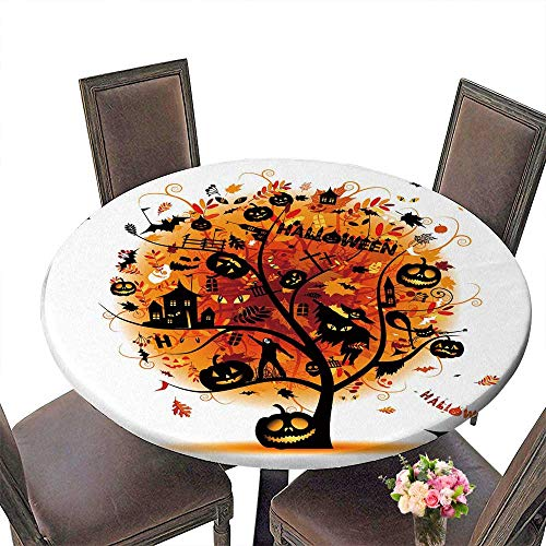 PINAFORE Simple Modern Round Table Halloween Night p y Concept Tree for Your Design for Daily use, Wedding, Restaurant 31.5