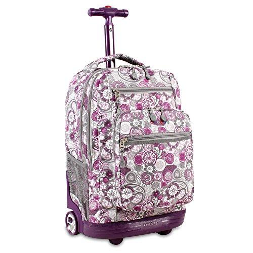 J World New York Sundance Rolling Backpack, Lemon, One Size
