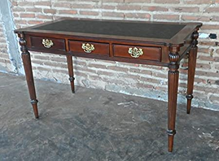English walnut writing desk bureau mahogany brown lrw amazon