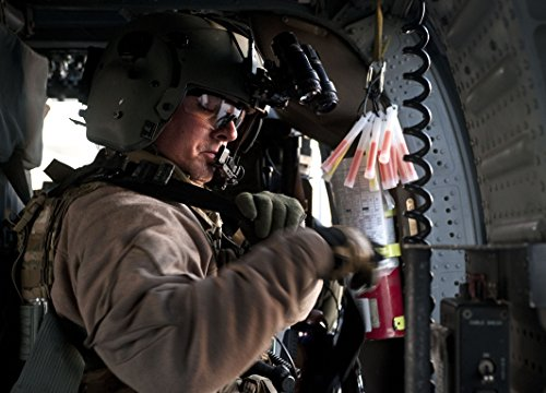 Pave Multi Frame - Home Comforts Framed Art Your Wall Tech. SGT. Richard Christensen, 66th Rescue Squadron Aerial Gunner, prepares an HH-60 Pave Hawk 10x13 Frame