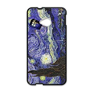 Happy Doctor Starry night painting Who Cell Phone Case for HTC One M7