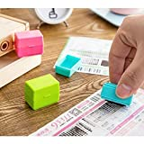 quickbooks alternative - UChic 3Pcs Roller Stamps Guard Your ID Mini Roller Inking Remove Stamp Perfect For Privacy Confidentiality Confidential Seal Protection(Color Random)