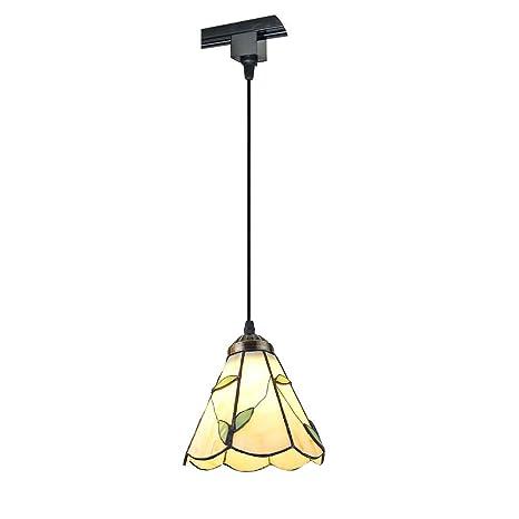 KIVEN Pendant Track Lighting Fixture Glass Tiffany Pendant Track Lighting  Fixture