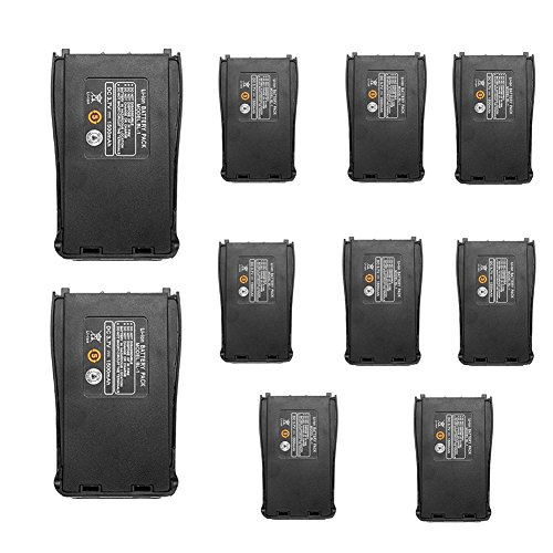 Replacement Battery for Baofeng (10pcs) BF-888S BF-777S Bf-999S Retevis H-777 and Arcshell Walkie Talkies by KCTIN