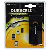 Duracell Instant Usb Charger With Lithium Ion Battery/Includes Universal Cable With Usb And Mini Usb