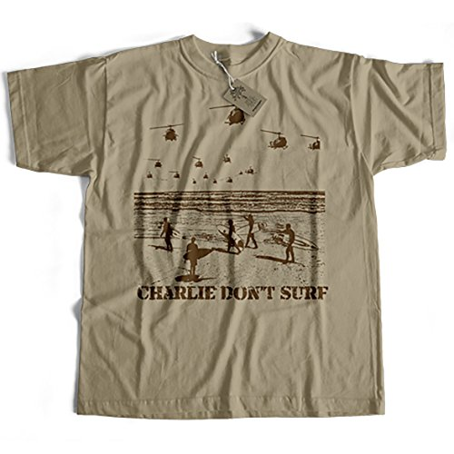 Inspired by Apocalypse Now T shirt - Charlie Don't Surf (XXL)