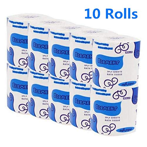 🥇 20 Rolls Toilet Paper Bulk Rolls 3-Ply Silky & Smooth Soft Toilet Paper Rolls | Birthday Party Gift | Bathroom Accessories Tissue Paper | Funny Gift Toilet Paper