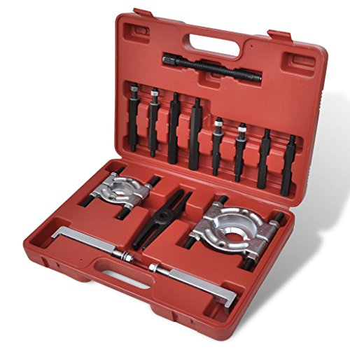 Festnight 14pcs Bearing Splitter Gear Puller Fly Wheel Separator Set Tool Kit, Heavy Duty Steel (Set Bearings 14)