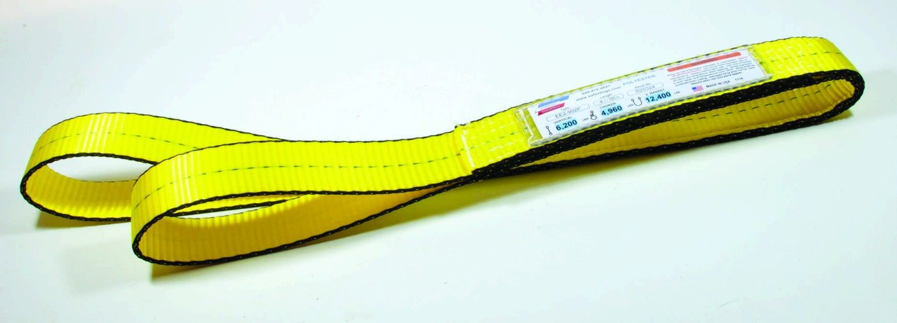 American Industrial/ 2', 1 Ply Eye To Eye Polyester Web Sling / Ee1-902Px3/ 3 Ft. Long / 3,200 Lbs. Vertical