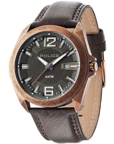 Police 14103JSQR/61 - Reloj de cuarzo , correa de cuero: Amazon.es: Relojes