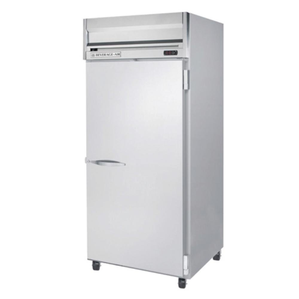 Beverage-Air HFPS1W-1S Horizon Series One Wide Section Solid Door Reach-In Freezer 34 cu.ft. Capacity Stainless Steel Exterior and