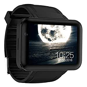 DM98 Bluetooth Smart Watch 2.2 inch Android OS 3G Smartwatch Phone MTK6572 Dual Core 1.2GHz 512MB RAM 4GB ROM Camera WCDMA GPS (black)