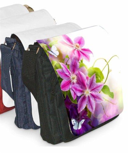 Klebespatz / Motiv Schultertasche Venedig Blume Lila