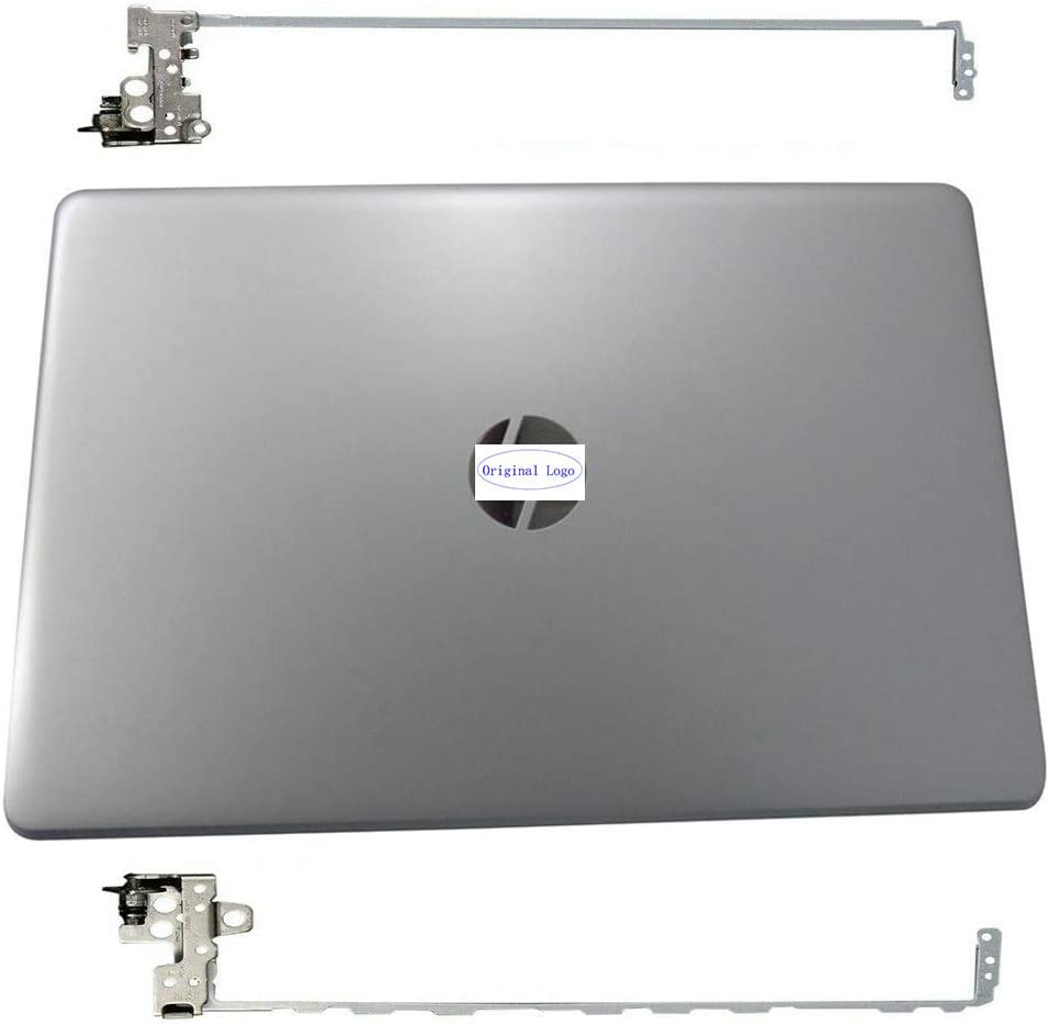 Original New Replacement for HP 15-BS 15-BW 15T-BR 15Z-BW 15T-BS 15G-BR 15Q-BU 15Q-by bs031wm 15-bs052la 15-bs105la Laptop LCD Cover Back Rear Top Lid w/Hinges L03439-001 924892-001 Silver