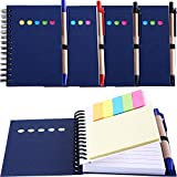 Best Pens With Notepad Sticky - Maxdot 4 Pieces Kraft Paper Steno Pocket Business Review