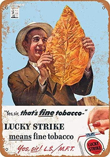 aoeiu Lucky Strike Cigarettes Cartel de Metal Decoración de la ...