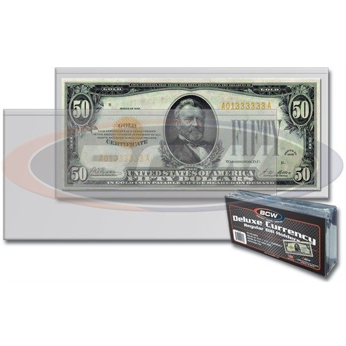 BCW 10 Regular Bill Holders, Hard Clear Money Protectors