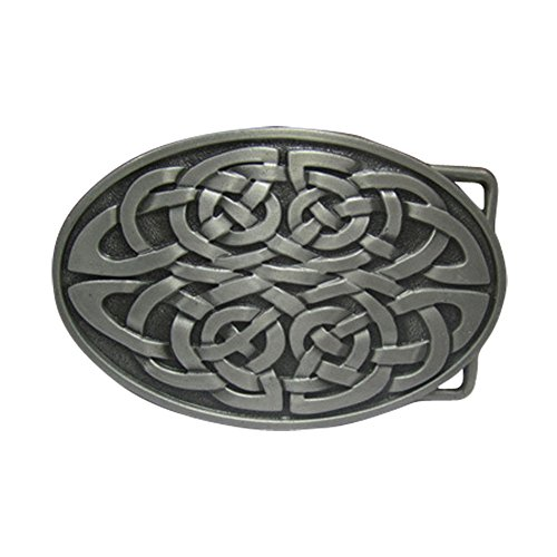 E-Clover Adult Unisex Country Celtic Knot Oval Western Belt Buckles (Western Oval Belt Buckle)
