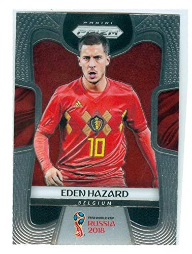 f28e90eee Image Unavailable. Image not available for. Color: Eden Hazard soccer card (Belgium  Chelsea) 2018 Prizm World ...