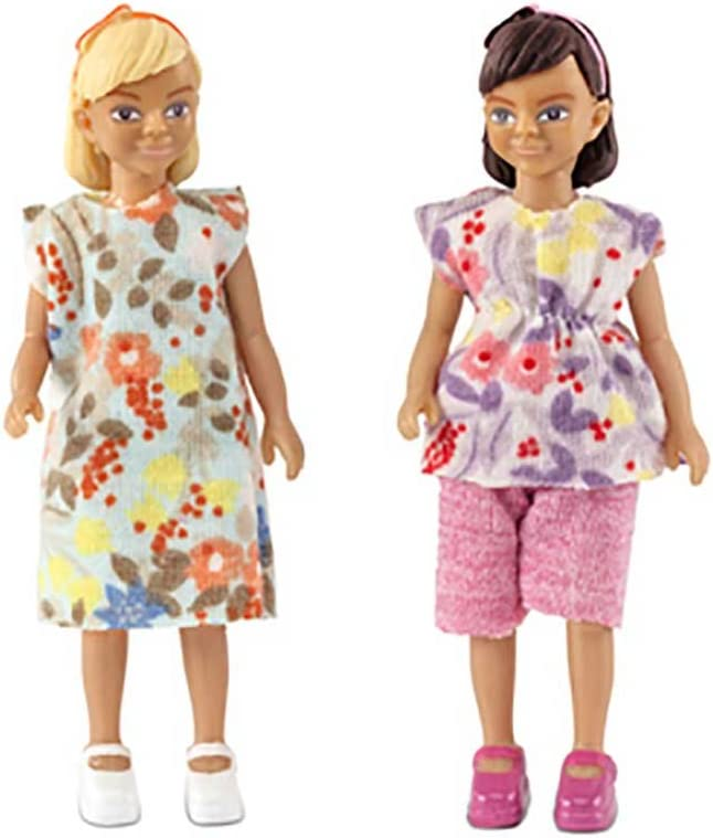 Melody Jane Dollhouse Lundby Two Modern Girls, Friends or Sisters