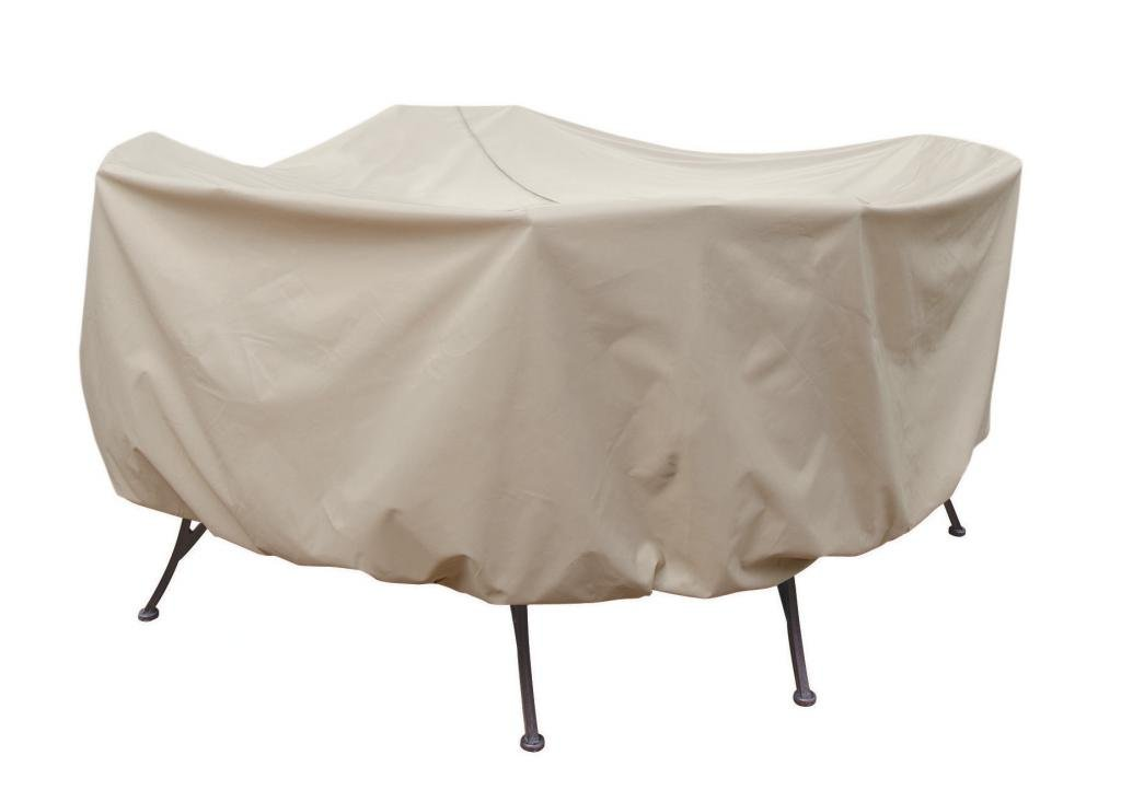 Treasure Garden Protective Patio Furniture Cover CP572 54'' Round Table Chairs Ties Umbrella Hole