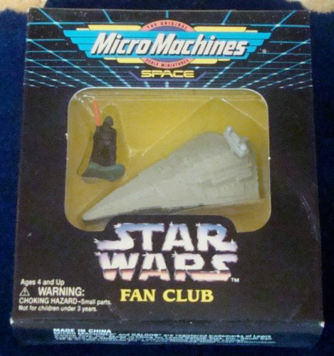 Star Wars Micro Machines Fan Club Exclusive Star Destroyer with Darth Vader (Vaders Star Destroyer)