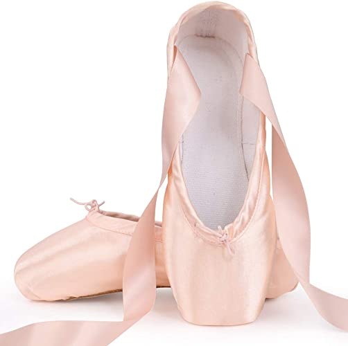 authentic quality coupon codes best value Amazon.com | Soudittur Girls Womens Ballet Pointe Shoes Pink ...