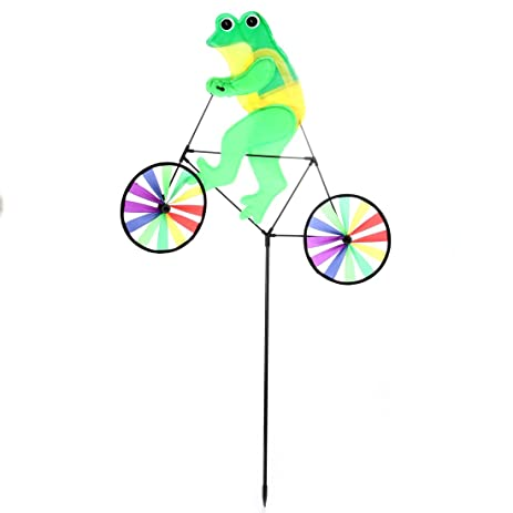Amazoncom HomeX Garden Wind Spinners Bicycle Frog and Turtle