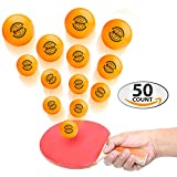 EBUNG Ping Pong Balls Set – 50 Professional Grade Ping Pong Balls – 40 mm Orange Balls – Ideal for Intensive Training, Tournament Level Practice Sessions or for Serious Beginners