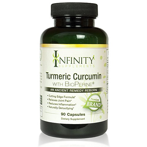 The Best 100% Pure Organic Turmeric Curcumin All Natural Pills with BioPerine Extract 95% Curcuminoids