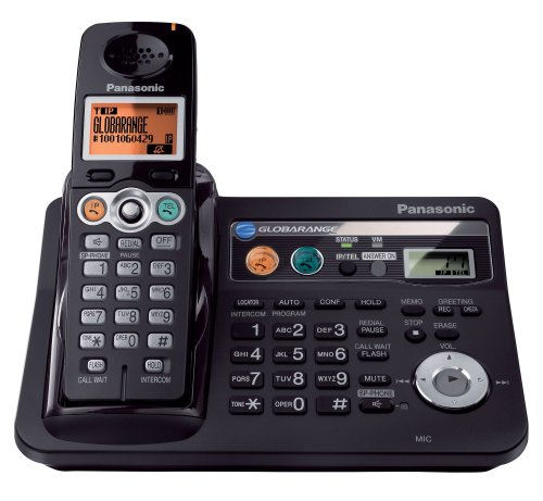 Panasonic BB-GT1540B Globarange Expandable Cordless Telephone w/Digital Answering System with Point-to-Point Internet Calling (US) by Panasonic