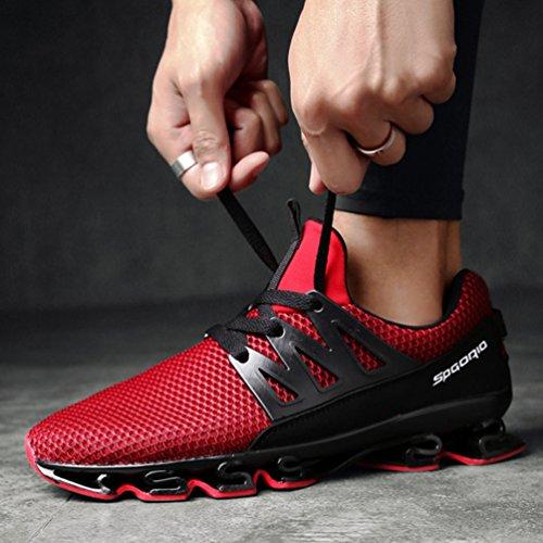 Courir 39 Marcher Jogging Sneaker Rouge Outdoor Textile de Homme pour Loisir Antichoc Basket Sport Mode de Running de 46 Respirant Fitness Chaussure qw4nHBgX
