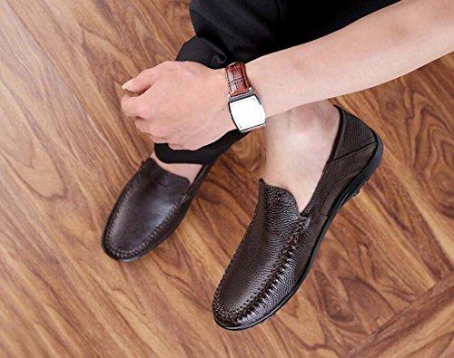 Tamaño Zapatos de Zapatos Tamaño 44 Informales de Guisantes Padre Nuevo Hombres Edad Negocios de Gran Respirables Marrón Zapatos Color de Mediana de para xFxqSdIwT