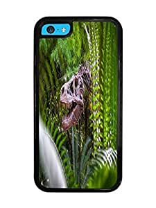 Dinosaur Skull Black Silicone Case for iPhone 5C