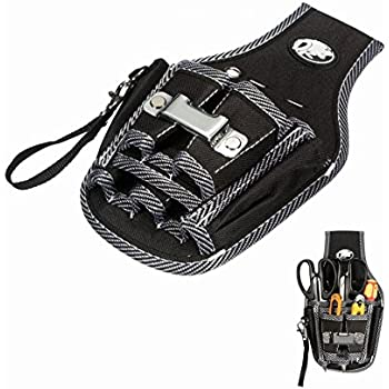 CBOKE Small Durable Maintenance and Electrician's Pouch with Pockets Utility Tactical Waist Pack Camping Hiking Pouch