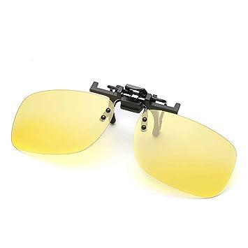 Providethebest Hommes Fashion Square Polarized Clip-On Flip Up Lunettes de soleil de clip en métal vision nocturne ezo8M7Z