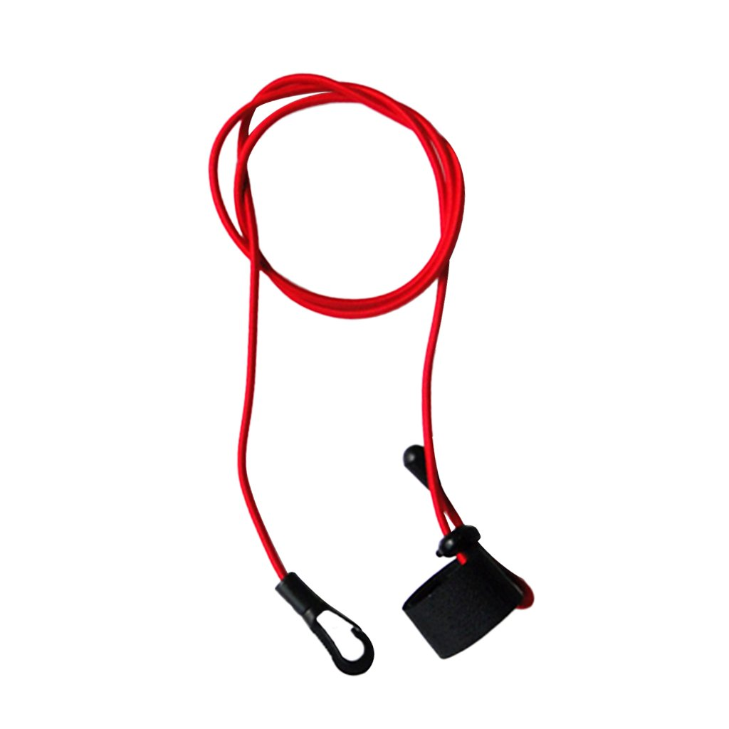 Jili Online 43 inches Durable Elastic Cord Secure Fishing Rod/ Kayak Paddle Leash Lanyard with Carabiner Clip + Hook & Loop