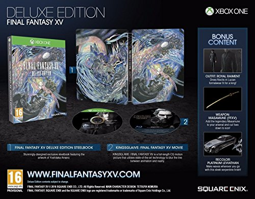 Final Fantasy XV: Deluxe Edition (Xbox One) (Final Fantasy 15 Special Edition Xbox One)