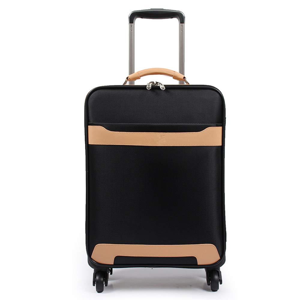 旅行用品荷物スーツケーストロリーケース プレミアム回転メンズスーツケース、ユニバーサルホイール、プルボックス、ブラックスーツケース、シャーシ16、20、24インチ。 B07S7TWH2Y